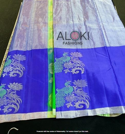 Purple Uppada silk saree with tissue work
