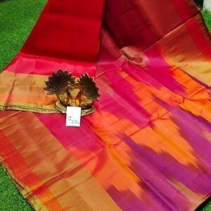 Red with gold uppada silk saree