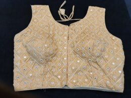 Matte gold with mirror ready made blouse
