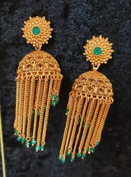 Matt finish traditional jumkha earrings