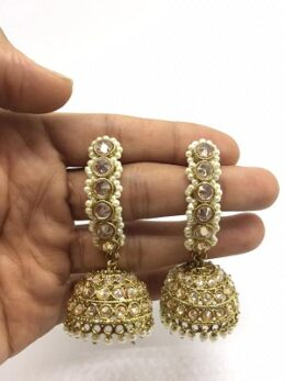 Premium Quality polki jumka earrings