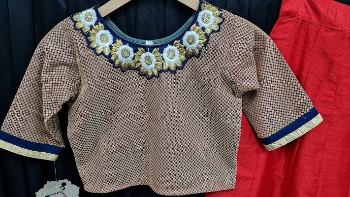 Trendy indowestern teenage girls red skirt top set